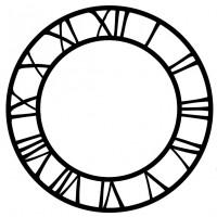 Vinyl Cut Clock Face