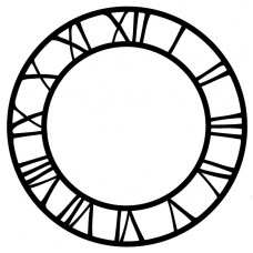 Vinyl Cut Clock Face