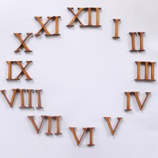 MDF Numbers - 1-12 in Roman Numerals