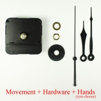 12mm Clock Movement - Reverse (includes hands)