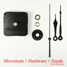 9mm Clock Movement - Silent (includes hands)
