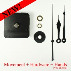 BULK LOT! - 3mm Clock Movement (includes hands) x 50pc