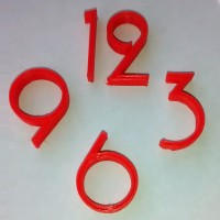 3D Printed Clock Numbers