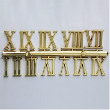 Gold Roman Numbers - 1-12