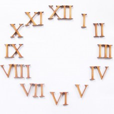 3mm Plywood Numbers - 1-12 in Roman Numerals