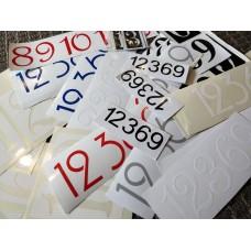 Vinyl Cut Clock Numbers - 12,3,6,9