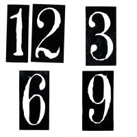 Vinyl Cut Clock Numbers - 12,3,6,9