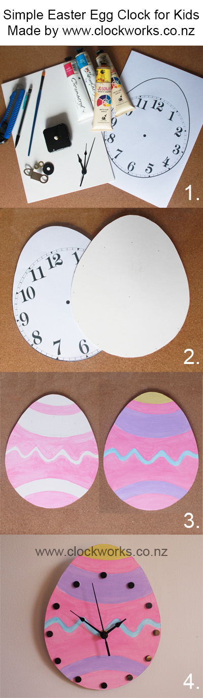 Click for large image of Free Easter Egg Clock Tutorial